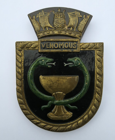 Souvenir mini Plaque for HMS Venomous