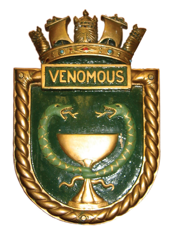 Plaque for HMS Venomous