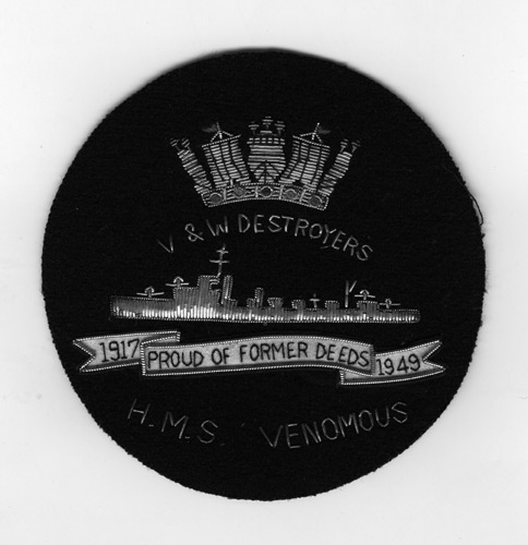 Blazer badge for V & W Destroyer Association