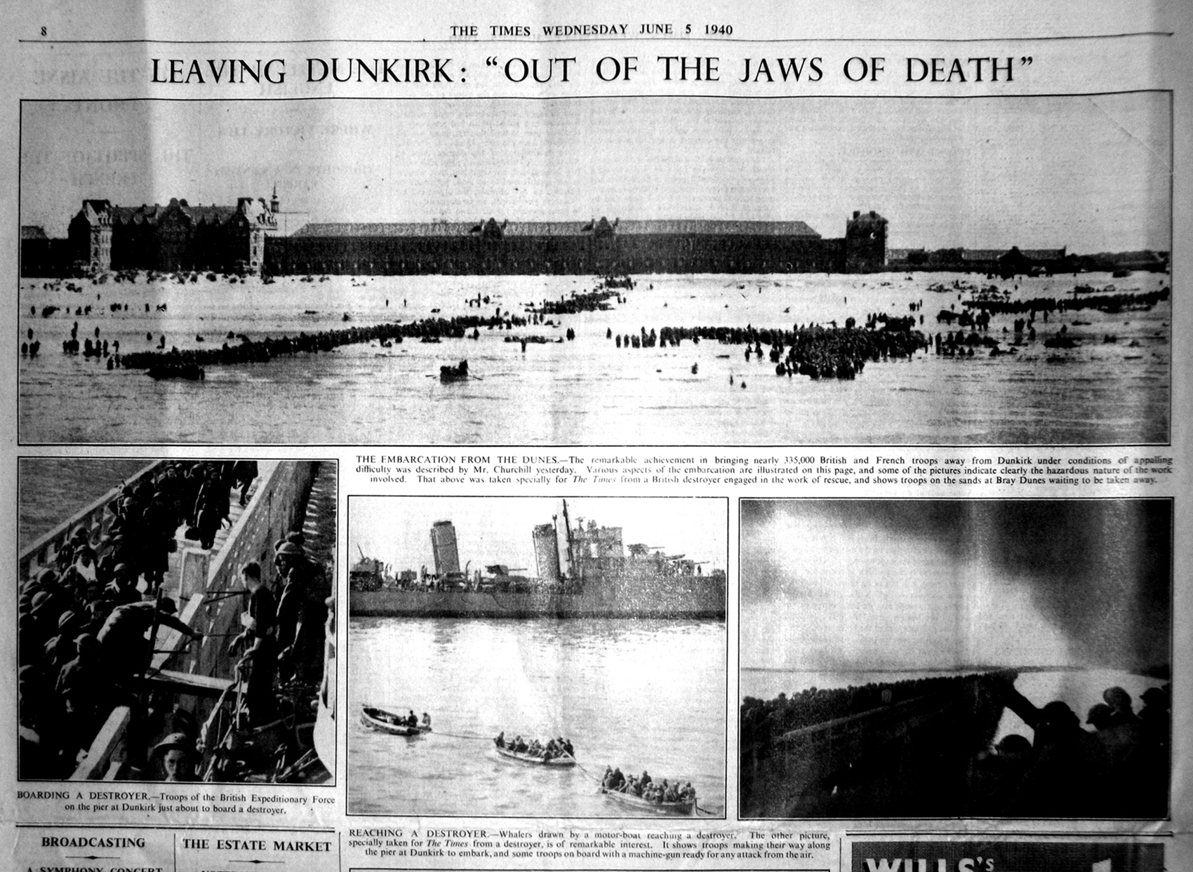 Dunkirk in the TIMES on 5 June 1940